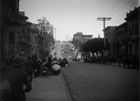 Earthquake ravaged street and frightened San Franciscans.