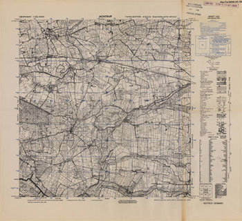 German maps topographische karte 125000 collections hbll map of achtrup germany gumiabroncs