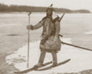 A Goldes Bear Hunter Traveling on the frozen Amur River